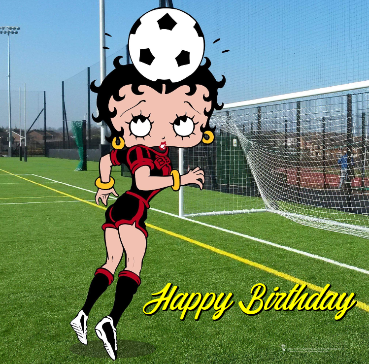 Betty Boop Soccer Birthday Cards